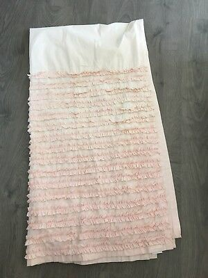 Pink Ruffle Pottery Barn Style Curtains- RESERVED LISTING!