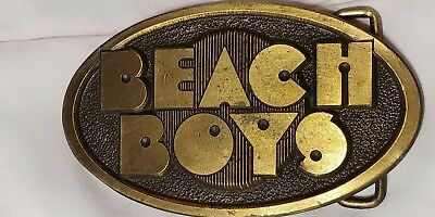 "Vintage Beach Boys-Belt Buckle~says""Beach boys"" in solid brass/GC/collectable!!!"