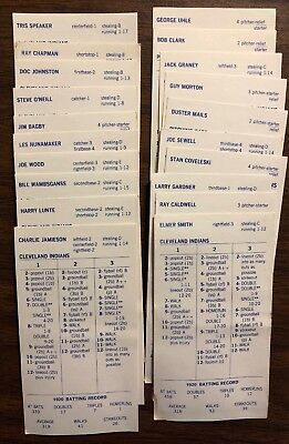Strat O Matic Baseball Lot 1962 Giants 1927 Yankees 1934
