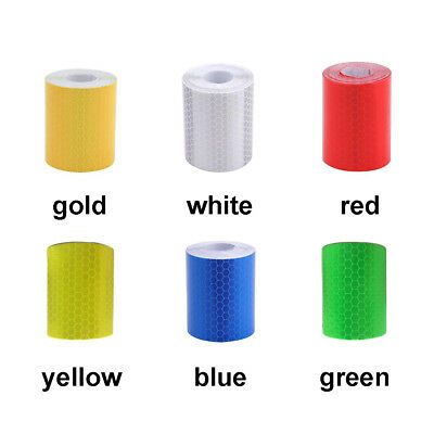 Car Night Reflective Safety Warning Conspicuity Tape Strip Sticker DIY Decal UK
