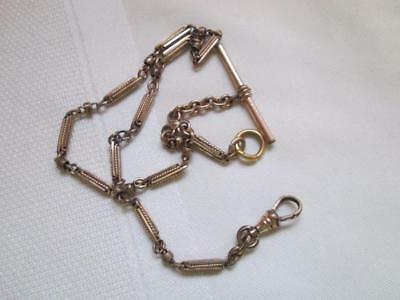Vintage Gold Filled Pocket Watch CHAIN Signed H & H from Estate