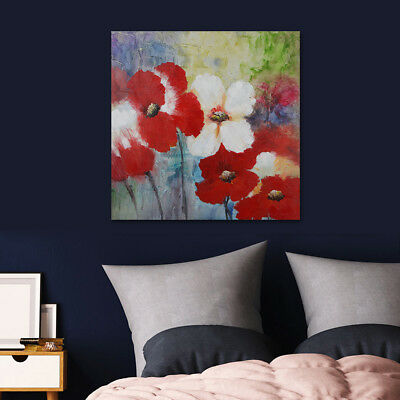 Hand Painted Oil Painting On Canvas Modern Wall Art Charming Flowers (Framed)