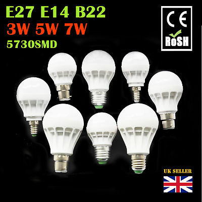 12x 6x 3W 5W 7W B22 E14 E27 LED SMD Globe Bulbs Light BC ES Spotlight UK