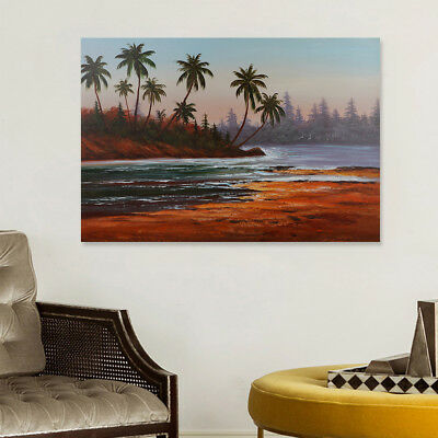Hand-Painted Abstract Scenery Oil Painting Home Decor Wall Art On Canvas Framed