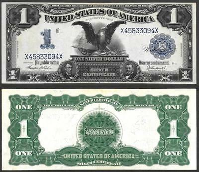 1899 $1 Large Size Silver Certificate~Black Eagle~Crisp Almost Uncirculated