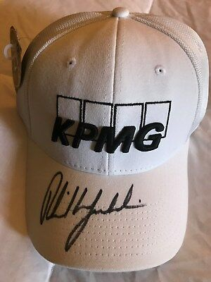 da2fe270de7 Phil Mickelson Signed Autographed Golf Hat Kpmg Callaway  rare