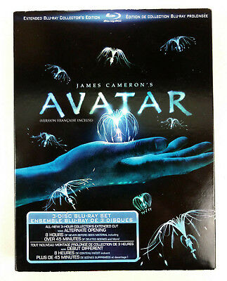 Avatar - Extended Collector's Edition- 3 Discs (2011, Blu-ray) NEW & SEALED