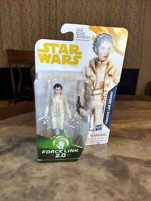 Star Wars Force Link 2.0 Princess Leia Organa (Hoth) 3 3/4 Inch Action Figure