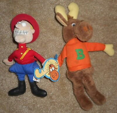Rocky & Bullwinkle Plush Toys / Beanies – Dudley Doright and Bullwinkle Moose