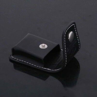 Stylish Black Geniune Leather Clip-On Lighter Sheath Pouch/Case/Holder Cover