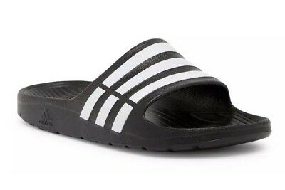 ae8e4a5a8a8b New Adidas Men s Duramo Sandals Slides ~ Size Us 10 ~  g15890Nb Black    White