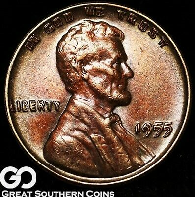 1955/55 Lincoln Cent Wheat Penny, Doubled Die OBV., Choice BU++ Key Date ERROR!