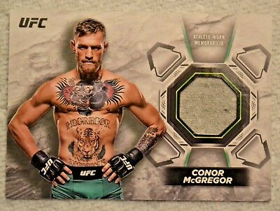 2018 Topps UFC Knockout Relic Card Conor McGregor Lightweight 81/99