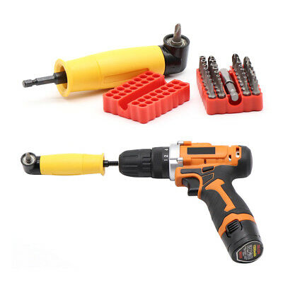 90°Right Angle Drill Attachment Chuck Adapter Electric Power Cordless Tools UK