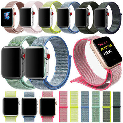Reloj Deportivo De Nylon de Bucle Banda Correa Para Apple Watch 4 3 2 38/40/44mm