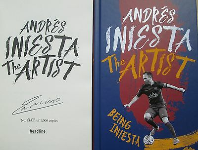 Andres Iniesta-Signed Book-The Artist-Being Iniesta Limited Edition-Barcelona