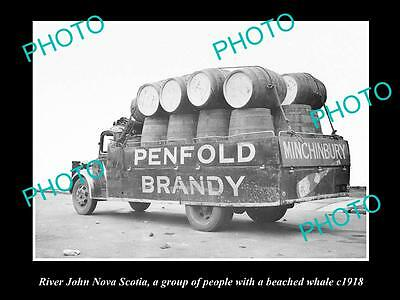 OLD LARGE HISTORIC PHOTO OF THE PENFOLDS WINES TRUCK, SYDNEY NSW c1940 7