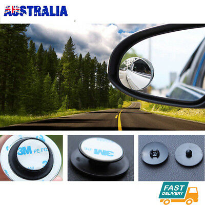 2PC Blind Spot Car Mirror Adjustable Rear Side View Convex Glass 360 Wide Angle