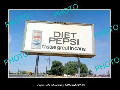 OLD LARGE HISTORIC PHOTO OF PEPSI COLA DRINK ADVERTISING BILLBOARD c1970s 3