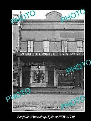 OLD LARGE HISTORIC PHOTO OF THE PENFOLDS WINES SHOP, SYDNEY NSW c1940 3