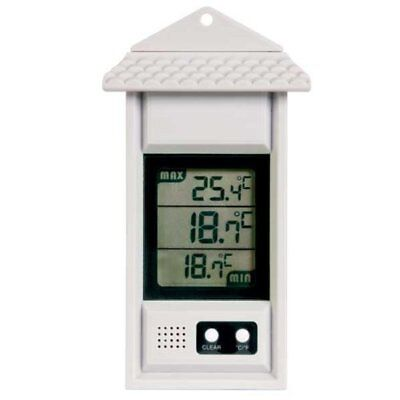 White Max Min Digital Thermometer - Ideal for Greenhouse or Conservatories