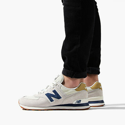a14242ea3a27f SHOES SNEAKERS NEW Balance ML574YLB man beige blue fabric canvas ...