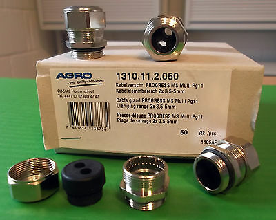 Cable Gland IP68 PG11 Metal Dual 2 Cable Entry Takes 2 Cable's x 1pc Offers