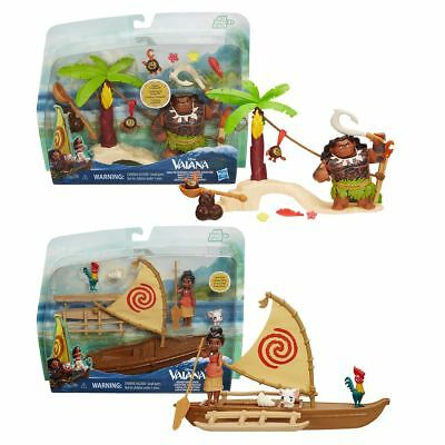 New Moana 'Vaiana' Maui's Kakamora Or Moana Adventure Canoe Playset Official