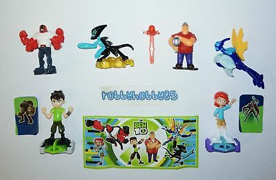 Ben 10 Complete Set With All Papers Kinder Surprise 2019