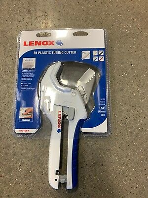"NEW Lenox  R1 Ratcheting Plastic Tubing Cutter 1-5/8"" - PVC, CPVC PEX, POLY, PB"