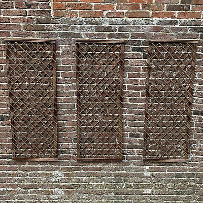 Willow Garden Trellis Panels with Square Top Set of 3 (120cm x 45cm)