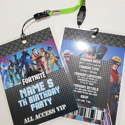 Personalised Gamer VIP Lanyard for Birthday Party Invites Boys
