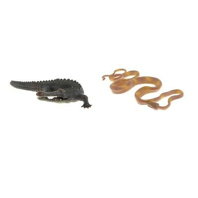 Realistic Plastic Crocodile Toys Boa Constrictor Action Figure Kids Toy Gift