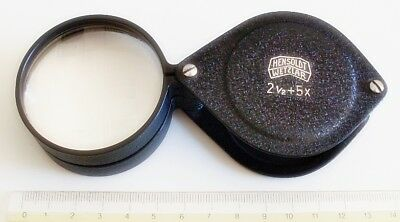 Antique Metal Magnifier Hensoldt Wetzlar Magnifying Glass Zeiss Lupe Loupe Lupa
