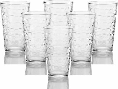 CIRCLEWARE 40203 HIGHBALL Tumbler Drinking Glasses, Set of 6 ...