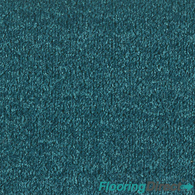 Teal Petrol Felt Back Carpet - Lounge Bedroom - Any Size Stain Free Twist Roll