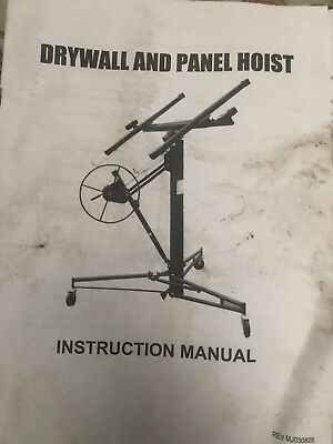 drywall lift hoist plasterboard panel lifter