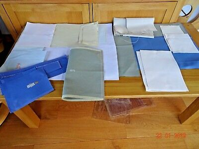 Job Lot Of Embroidery Or Cross Stitch Fabric Aida Mixed Colours And Sizes