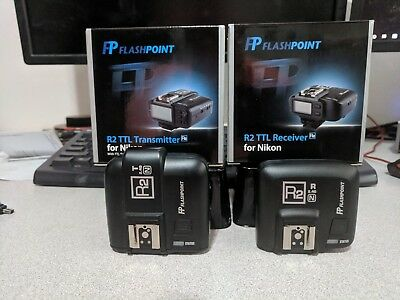Flashpoint R2 ttl Nikon Transmitter and Receiver Free Shipping