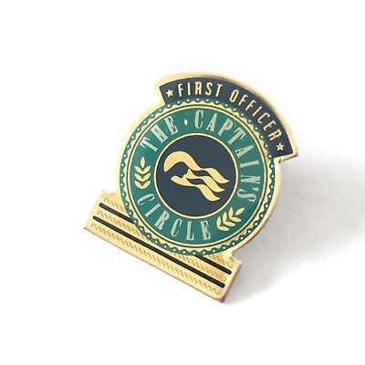 Princess Cruises . First Officer Captain's Circle Pin . Lapel Repeater Ship Boat