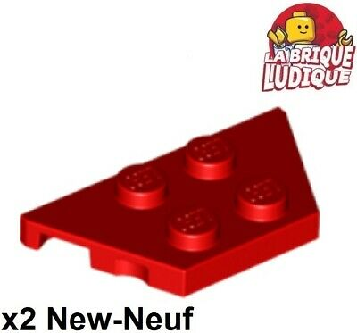 QTY X6 51739 NEW Black 2x4 Wedge Plate LEGO®