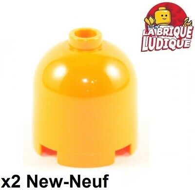 Lego 2x brique ronde brick round dome 2x2x1 2//3 30151a orange NEUF