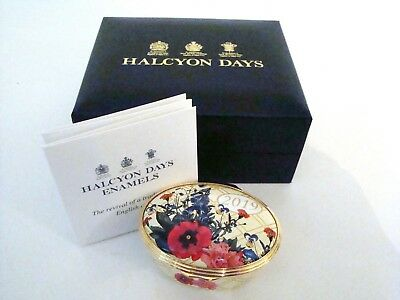 Halcyon Days Enamel Annual Year Box 2019 with box and COA ENYB190102G NEW MINT