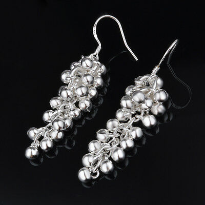 8pairs Grape cluster Earrings silver Plated Elegant Women Lady gift Jewelry