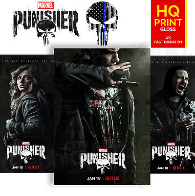 The Punisher Season 2 Character Posters Marvel Comics TV Series | A4 A3 A2 A1 |