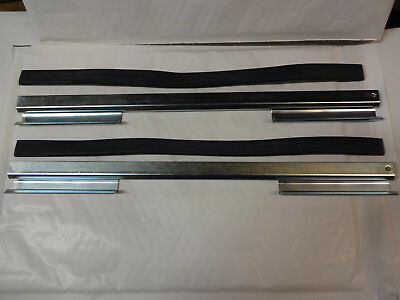 Jaguar Mk2 & Daimler V8 Door Glass Regulator Channels Rubber Front Set