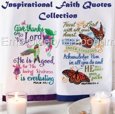 Inspirational Faith Quotes Collection - Machine Embroidery Designs On Cd Or Usb