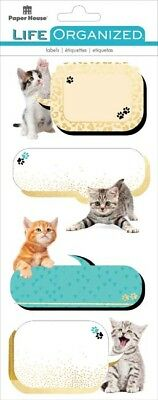 Kittens - Paper House Life Organized Label Stickers