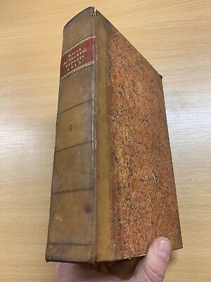 1814 Law Reports Of Cases In Court Kings Bench Large Heavy Leather Marbled Book