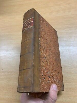 1818 Law Reports Of Cases In Court Kings Bench Large Heavy Leather Marbled Book